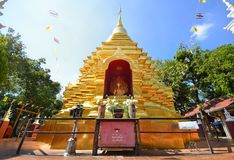 Sareerikkatartsirirak the name of golden pagoda in Wat Phan On or Phan On temple is the one of the oldest temple in Chiang Mai cit Royalty Free Stock Photos