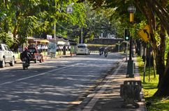 Scene of the road on Moon Muang road near Thammakorn nursing home Royalty Free Stock Photos