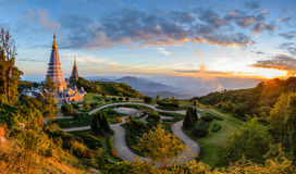 Chiang mai Thailand. Doi Inthanon National Park when sunset Chiang mai Thailand Royalty Free Stock Photos