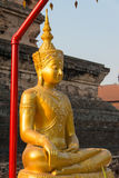 Chiang Mai, Thailand. - Feb 22 2015: Budda Statues at Wat Chang Stock Image