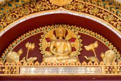 Chiang Mai, Thailand. - Feb 17 2015: Budda Statues at Wat Chiang. Man. a famous Temple in Chiang Mai, Thailand Royalty Free Stock Images