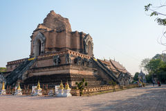 Chiang Mai, Thailand. - Feb 22 2015: Wat Chang Taem. a famous Te Royalty Free Stock Photography