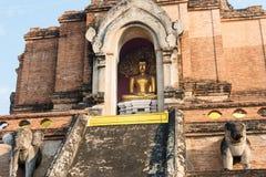 Chiang Mai, Thailand. - Feb 22 2015: Wat Chang Taem. a famous Te Stock Photography