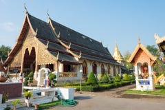 Chiang Mai, Thailand. - Feb 17 2015: Wat Chiang Man. a famous Te. Mple in Chiang Mai, Thailand Stock Photo