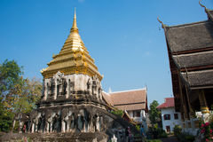 Chiang Mai, Thailand. - Feb 17 2015: Wat Chiang Man. a famous Te Royalty Free Stock Photography