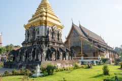 Chiang Mai, Thailand. - Feb 17 2015: Wat Chiang Man. a famous Te. Mple in Chiang Mai, Thailand Royalty Free Stock Images