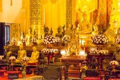 Chiang Mai, Thailand - 22 februari 2015: Buddastandbeelden in Wat Chang Stock Afbeeldingen