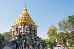 Chiang Mai, Thailand - 17 februari 2015: Pagode in Wat Chiang Man A Royalty-vrije Stock Fotografie