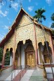 Chiang Mai, Thailand - 13 februari 2015: Wat Chai Sri Phum beroemd Stock Foto