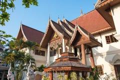 Chiang Mai, Thailand - 24 februari 2015: Wat Chang Taem een beroemde Te Stock Afbeelding