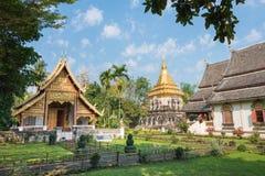 Chiang Mai, Thailand - 17 februari 2015: Wat Chiang Man een beroemde Te Stock Afbeelding