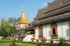 Chiang Mai, Thailand - 17 februari 2015: Wat Chiang Man een beroemde Te Stock Foto's