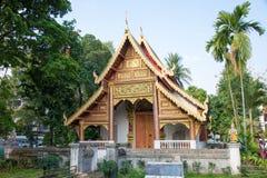 Chiang Mai Thailand - Februari 17 2015: Wat Chiang Man en berömda Te Arkivbilder