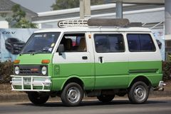 Private Daihatsu old Van Car. CHIANG MAI, THAILAND -FEBRUARY 27 2018: Private Daihatsu old Van Car. Photo at road no.1001 about 8 km from downtown Chiangmai Stock Image