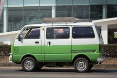 Private Daihatsu old Van Car. CHIANG MAI, THAILAND -FEBRUARY 27 2018: Private Daihatsu old Van Car. Photo at road no.1001 about 8 km from downtown Chiangmai Stock Photography