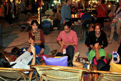 Chiang Mai, Thailand: Foot Massage Women Stock Photo