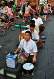 Chiang Mai, Thailand: Four Blind Musicians Stock Image