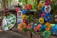 Chiang Mai, Thailand handmade umbrella making process Royalty Free Stock Photography