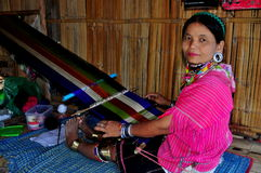 Chiang Mai, Thailand: Hill Tribe Women with Loom Royalty Free Stock Photo