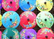 CHIANG MAI, THAILAND - JANUARI 19, 2018 - BO Sang Umbrella Festival Gehouden in Januari van elk jaar BO Sang Umbrella Handicraft  royalty-vrije stock afbeelding