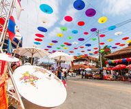 CHIANG MAI, THAILAND-JANUARY 19 : 31th anniversary Bosang umbrella Royalty Free Stock Image