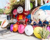 CHIANG MAI, THAILAND-JANUARY 19 : 31th anniversary Bosang umbrella Stock Images