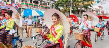 CHIANG MAI, THAILAND-JANUARY 19 : 31th anniversary Bosang umbrella Royalty Free Stock Photography