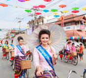 CHIANG MAI, THAILAND-JANUARY 19 : 31th anniversary Bosang umbrella Stock Photography