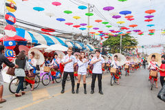 CHIANG MAI, THAILAND-JANUARY 19 : 31th anniversary Bosang umbrella Royalty Free Stock Images