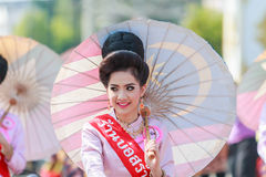 CHIANG MAI, THAILAND-JANUARY 19 : 31th anniversary Bosang umbrella Royalty Free Stock Photography