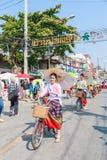 CHIANG MAI, THAILAND-JANUARY 19 : 31th anniversary Bosang umbrella Stock Photography