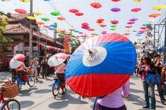 CHIANG MAI, THAILAND-JANUARY 19 : 31th anniversary Bosang umbrella Stock Photos