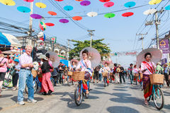 CHIANG MAI, THAILAND-JANUARY 19 : 31th anniversary Bosang umbrella Royalty Free Stock Photo