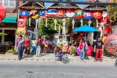 CHIANG MAI, THAILAND-JANUARY 19 : 31th anniversary Bosang umbrella Stock Image