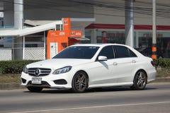 Luxury car White Mercedes Benz E300 Royalty Free Stock Photography