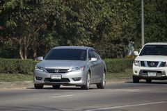 Private car Honda accord. CHIANG MAI, THAILAND -JANUARY 9 2018:  Private car Honda accord. On road no.1001 8 km from Chiangmai Business Area Stock Photography