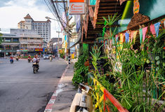 CHIANG MAI, THAILAND - JULY 2008: City streets on a beautiful da Royalty Free Stock Images