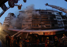 CHIANG MAI, THAILAND JUNE 05: Fire in Fabric shop - catch fire i Stock Image