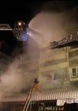 CHIANG MAI, THAILAND JUNE 05: Fire in Fabric shop - catch fire i Stock Photo