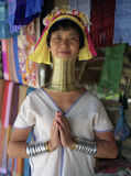 Chiang Mai, Thailand, 7 June 2014 - Long Neck Karen or Padong lady Stock Photo