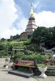 Chiang Mai, Thailand, 5 Juni 2014 - Pagode in Phra Mahathat Naphamethanidon Stock Afbeelding