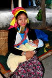 Chiang Mai, Thailand: Long Neck Mother with Baby Royalty Free Stock Photos