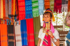 Chiang Mai, Thailand Long-necked tribe village Stock Image