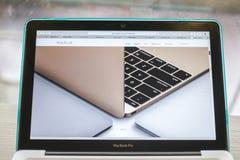 CHIANG MAI, THAILAND - 10. März 2015: Apple-Computer Website c Lizenzfreies Stockbild