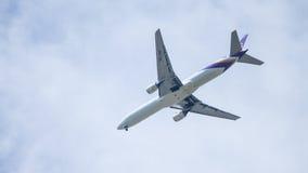 Chiang Mai Thailand - 28 mai : Boeing 777-2D7 de thaiairwaysThail Photo libre de droits