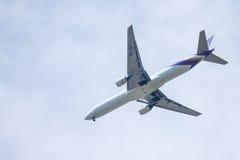 Chiang Mai Thailand - 28 mai : Boeing 777-2D7 de thaiairwaysThail Photos stock
