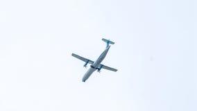 Chiang Mai Thailand - Maj 17: ATR72-500 av Kan Airlines landning Royaltyfria Foton