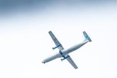 Chiang Mai Thailand - Maj 28: ATR72-500 av Kan Airlines landning Fotografering för Bildbyråer