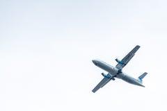 Chiang Mai Thailand - Maj 28: ATR72-500 av Kan Airlines landning Royaltyfri Foto