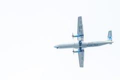 Chiang Mai Thailand - Maj 28: ATR72-500 av Kan Airlines landning Arkivbild